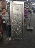 Дверь Нигерии проштемпелевала стальной лист двери двери отлитый в форму кожей выбитый кожей стальной