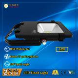 세륨 RoHS 승인되는 10W IP65는 Philips LEDs와 가진 옥외 LED 투광램프를 방수 처리한다
