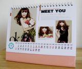 Hochwertige Kalender des Farben-Drucken-Draht-O mit Notizblöcken