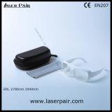 白いフレーム52が付いている2780nm 2940nmのえーレーザーの安全のガラス製の義眼の防護眼鏡