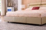 현대 디자인 침실 가구 가죽 침대 (9561)