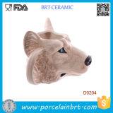 Regalo di compleanno di ceramica della tazza di figura della testa del lupo della novità