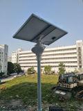 운동 측정기를 가진 태양 정원 또는 거리 프로젝트 빛