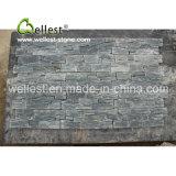 Folheado de pedra natural do painel de pedra preto