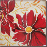 Frames Stretched Home Decoration (LH-500989)를 가진 침실 Painting를 위한 손으로 그리는 Abstract Flowers Oil Painting