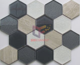 Gris y negro Color Crystal Mosaico Mixta Piedra (CS251)