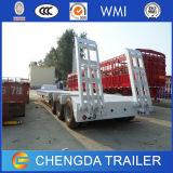 De 3 essieux d'excavatrice de transport de col de cygne de Lowboy de bâti remorque inférieure semi