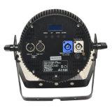 Dünnes BerufsParcan mit RGBW 4 in-1 LED und Powercon für Disco, Ereignis, Verein, Stadiums-Beleuchtung