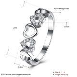 925 monili di disegno di amore dell'anello del cuore di Zircon dell'argento sterlina cinque per la ragazza