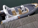 Bote de salvamento de los barcos de China Liya los 20FT FRP con el barco de la costilla de Hypalon de la venta del motor externo