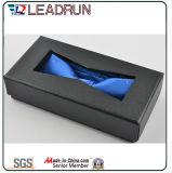 Rectángulo hecho a mano de empaquetado de la promoción del escaparate de la correa de la caja de cosméticos del compartimiento del metal del rectángulo de almacenaje de la correa de la caja del papel del regalo del rectángulo de la carpeta del regalo del rectángulo de papel (YSB027A)