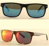 Óculos de sol azuis do acetato do espelho com seu próprio logotipo personalizado
