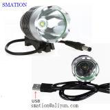 Recargable USB frontal linterna de la bici LED brillantes luces para bicicletas
