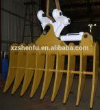 2.100 milímetros de largura Sete Shanks Rake Bucket para a máquina escavadora