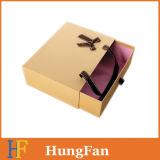 Коробка пакета подарка нажима и тяги логоса поставщика изготовления горячая штемпелюя