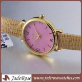 Het Horloge van de eenvoudige Grote Vrouwen van het Horloge van de Riem van het Leer van het Horloge van de Wijzerplaat