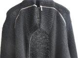 Camisola de confecção de malhas de inverno feminino com fecho de correr