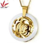 Monili Pendant di ceramica di modo del fiore unico della Rosa