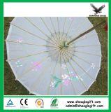 주문을 받아서 만들어진 로고 선전용 대나무 백지 우산