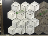Плитка мозаики шестиугольника белого мрамора Carrara Polished