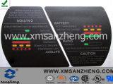 Poliestere resistente Mylar pi del blocco per grafici che avverte gli autoadesivi dell'UL CSA per la batteria di ione di litio