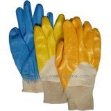 Het gele Nitril dompelde het Tuinieren half de Werkende Handschoen van de Veiligheid onder