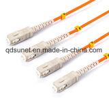 Fibra duplex Patchcord ottico di Sc/Upc millimetro