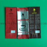 Sac de sac en plastique coloré en grains de café avec gousset latéral