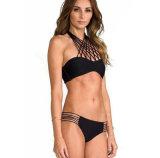 Hangt het Kruis van de Kabel van het Geslacht van de Nieuwe Dame van het Ontwerp van de Manier van de zomer de Bikini Tweedelige Swimwear van de Hals
