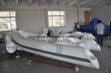 рыбацкие лодки роскошных твердых раздувных шлюпок 11ft малые с двигателем