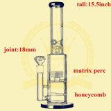16インチ-高いマトリックスのPercのすてきな卵の紡績工の煙る水ぎせるのためのガラス配水管