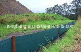 60GSM黒いポリプロピレンによって編まれる沈泥の塀ファブリック