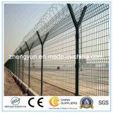 Электрическая загородка сетки колючей проволоки авиапорта Galvanised&PVC Coated