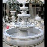Eenvoudige Witte Marmeren Fontein voor Meubilair mf-476 van de Tuin