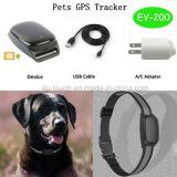 Inseguitore impermeabile di GPS degli animali domestici con posizione reale del programma (EV-200)