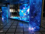 Afficheur LED P6 polychrome flexible pliable