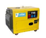 Générateur silencieux professionnel de diesel monophasé de Fy6500d
