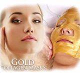 Do ouro natural do cuidado de pele dos cosméticos da etiqueta confidencial máscara antienvelhecimento da garganta