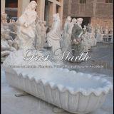 Marmorbadewannen-Stein-Badewannen-Granit-Badewannen-weiße Carrara-Badewanne Mbm-1021