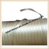 Kundenspezifische schwarze Farben-einzelne Seite/doppelte Seite gesponnenes Rand-Polyester-Satin-Farbband (SW500BEIGE)