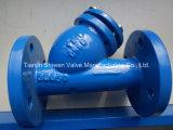 Y-Typ Roheisen-Grobfilter mit Ineinander greifen Ss304/Ss316
