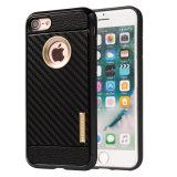 iPhone 7のケースのためのカーボンファイバーのMotomoの携帯電話の箱