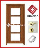 Porta de madeira interior do MDF do PVC do projeto o mais atrasado