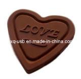 Flash del USB del cioccolato di figura del cuore (HXQ-H006)