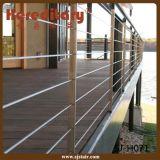 Пол Railing террасы нержавеющей стали - установленный Railing кабеля (SJ-H068)