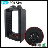 CD Stand Holder voor PS4 PS3 & Slim & PS4 PRO Console & PS Move Dual Controller Chargers van Tower Vertical Cooler Fan van de opslag