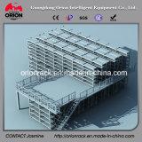 鉄骨構造のプラットホームの中二階のラッキング