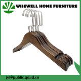 Gancio di vestiti adulto di legno con l'amo della parte girevole del bicromato di potassio (WHG-A07)