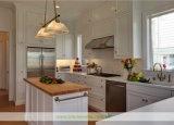 Gabinetes de cozinha da qualidade superior de madeira contínua com porta do abanador (WH-D991)