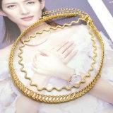 簡単なパンク亜鉛合金金カラー覆いの波のヘビの鎖のチョークバルブのネックレスは女性のために2 PCS/Set Collares Mujerをセットした